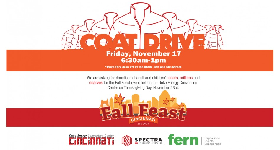 Duke Energy Convention Center Fall Feast Coat Drive